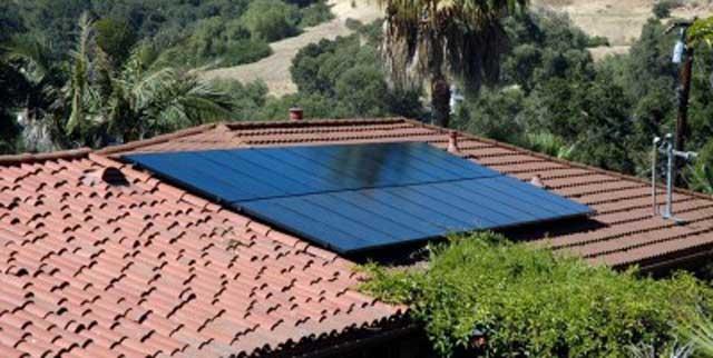 solar panels on roof in ojai california