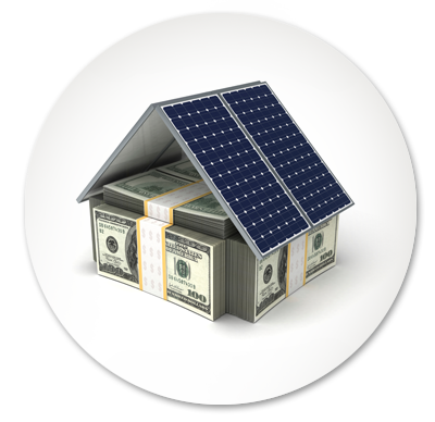 Saving money by installing solar on your house.
